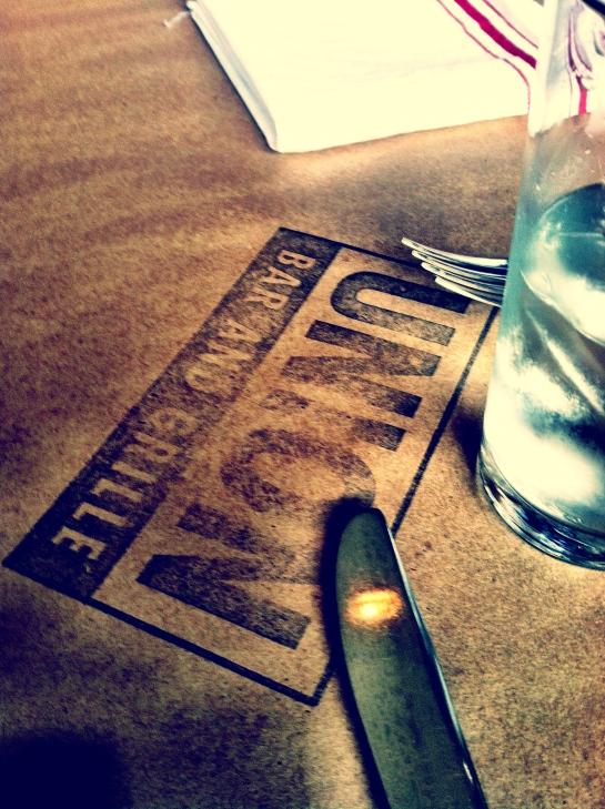 sunday brunch.  union bar & grille.